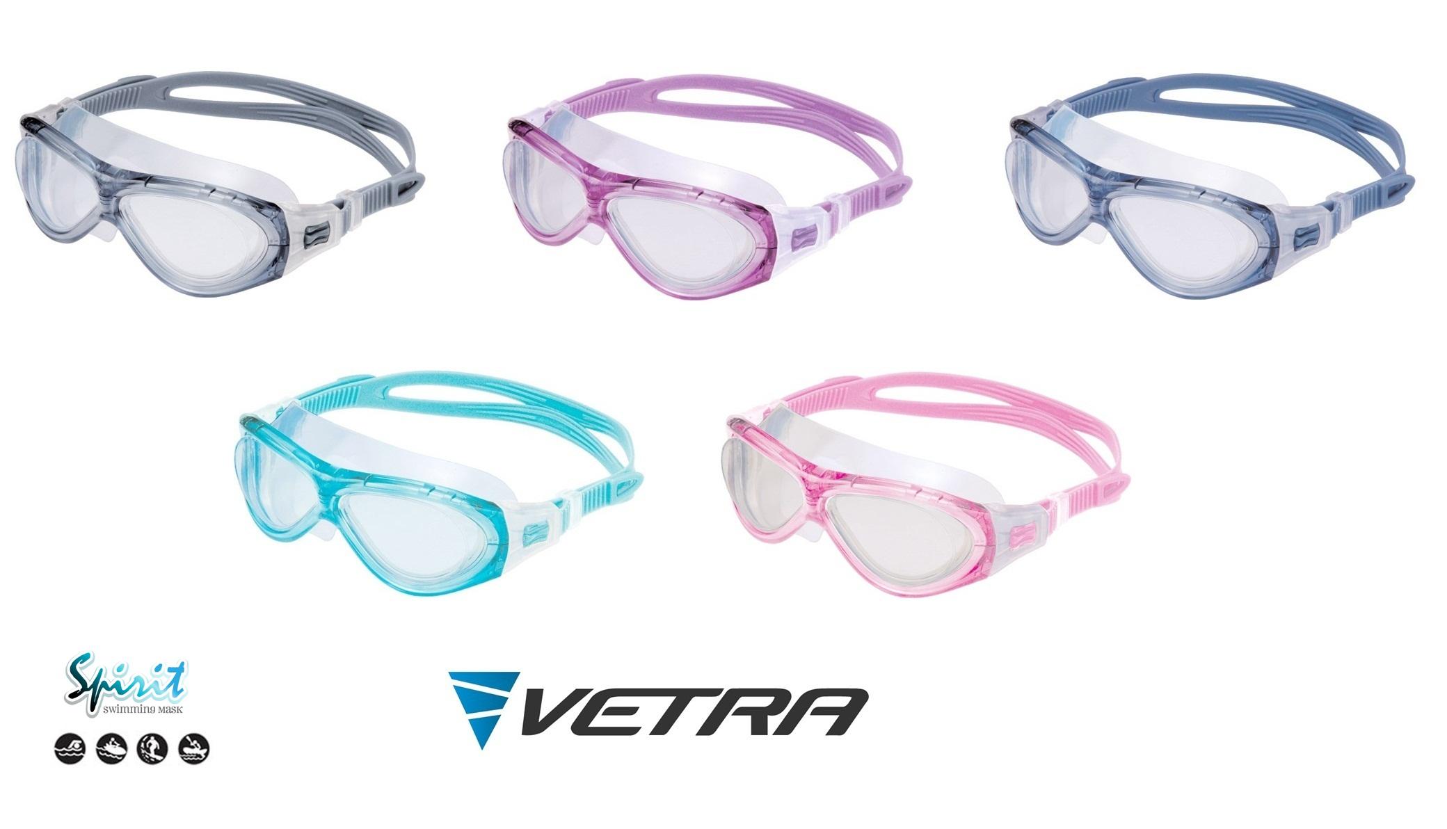 13032f4715 VETRA Swim Mask SPIRIT Goggles Anti-Fog UV Shilded Silicon Swimming Diving  New
